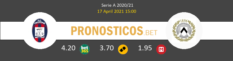 Crotone vs Udinese Pronostico (17 Abr 2021) 1