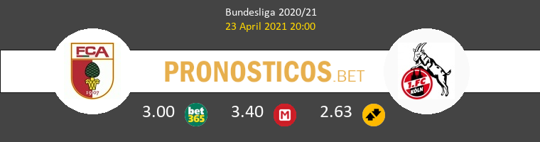 FC Augsburgo vs Koln Pronostico (23 Abr 2021) 1