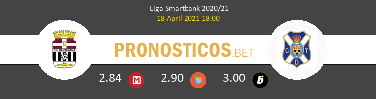 F.C. Cartagena vs Tenerife Pronostico (18 Abr 2021) 1