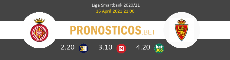 Girona vs Zaragoza Pronostico (16 Abr 2021) 1