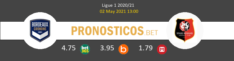 Girondins Bordeaux vs Stade Rennais Pronostico (2 May 2021) 1
