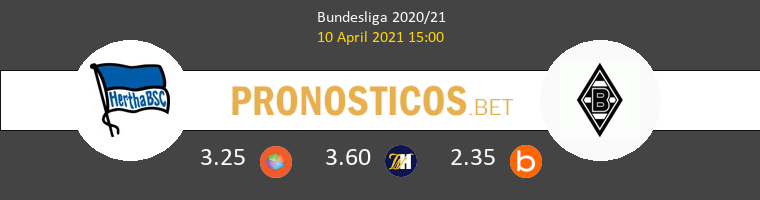 Hertha Berlin vs B. Mönchengladbach Pronostico (10 Abr 2021) 1
