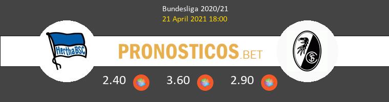 Hertha BSC vs SC Freiburg Pronostico (21 Abr 2021) 1