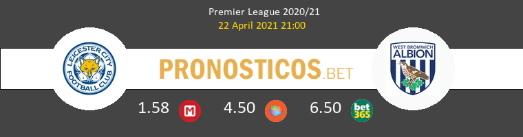 Leicester vs West Bromwich Albion Pronostico (22 Abr 2021) 1