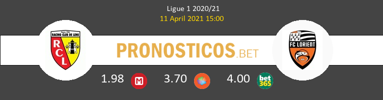 Lens vs Lorient Pronostico (11 Abr 2021) 1