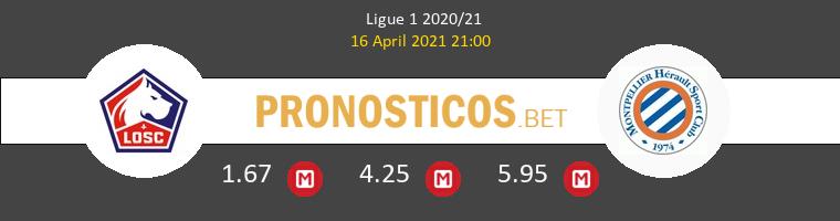 Lille vs Montpellier Pronostico (16 Abr 2021) 1