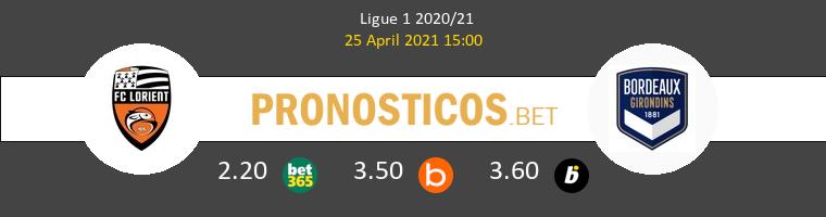 Lorient vs Girondins Bordeaux Pronostico (25 Abr 2021) 1