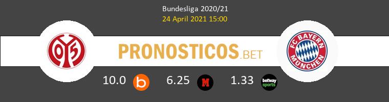 Mainz 05 vs Bayern Munich Pronostico (24 Abr 2021) 1