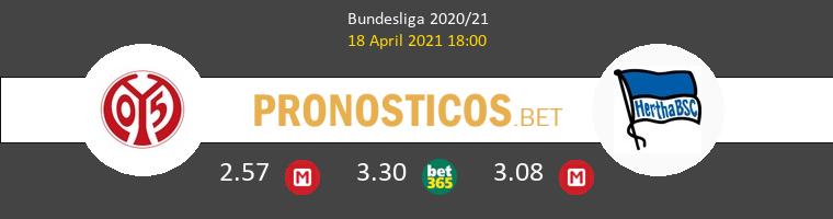 Mainz 05 vs Hertha BSC Pronostico (18 Abr 2021) 1