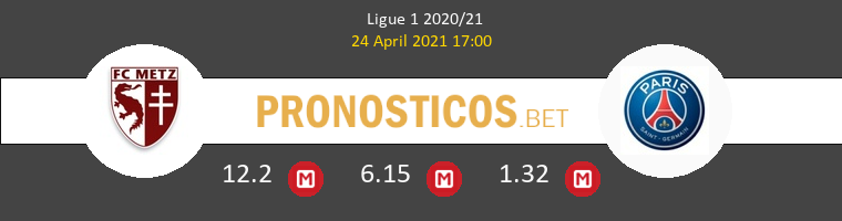 Metz vs Paris Saint Germain Pronostico (24 Abr 2021) 1