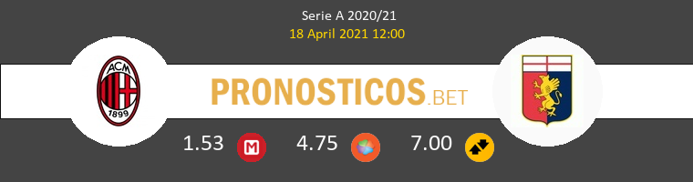 Milan vs Genova Pronostico (18 Abr 2021) 1