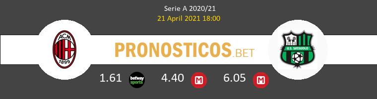AC Milan vs Sassuolo Pronostico (21 Abr 2021) 1