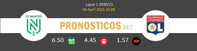 Nantes vs Lyon Pronostico (18 Abr 2021) 1