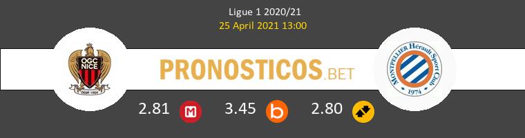 Niza vs Montpellier Pronostico (25 Abr 2021) 1