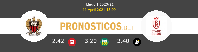 Nice vs Stade de Reims Pronostico (11 Abr 2021) 1