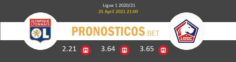 Olympique de Lyon vs Lille Pronostico (25 Abr 2021) 1