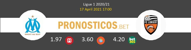 Olympique Marsella vs Lorient Pronostico (17 Abr 2021) 1