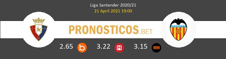 Osasuna vs Valencia Pronostico (21 Abr 2021) 1
