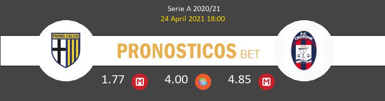 Parma vs Crotone Pronostico (24 Abr 2021) 1