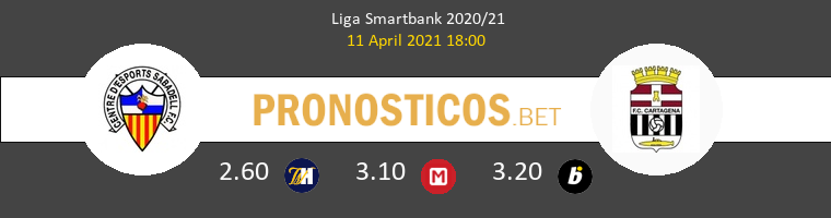 Sabadell vs F.C. Cartagena Pronostico (11 Abr 2021) 1