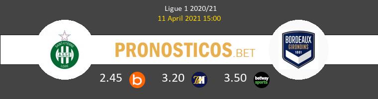 SaintvÉtienne vs Girondins Bordeaux Pronostico (11 Abr 2021) 1