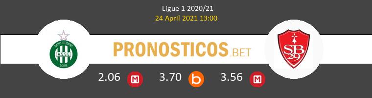 SaintvÉtienne vs Stade Brestois Pronostico (24 Abr 2021) 1