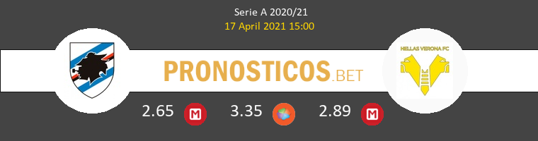 Sampdoria vs Hellas Verona Pronostico (17 Abr 2021) 1