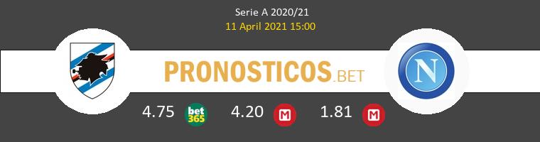 Sampdoria vs Nápoles Pronostico (11 Abr 2021) 1