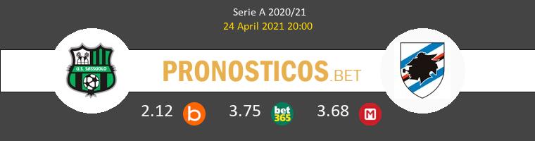 Sassuolo vs Sampdoria Pronostico (24 Abr 2021) 1