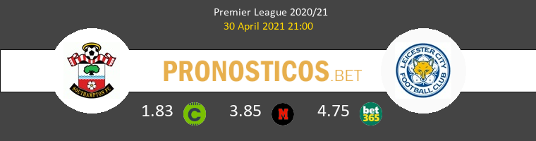 Southampton vs Leicester Pronostico (30 Abr 2021) 1