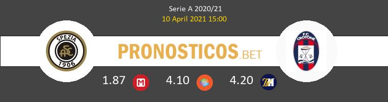 Spezia vs Crotone Pronostico (10 Abr 2021) 1