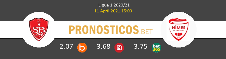 Stade Brestois vs Nimes Pronostico (11 Abr 2021) 1