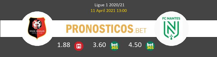 Stade Rennais vs Nantes Pronostico (11 Abr 2021) 1