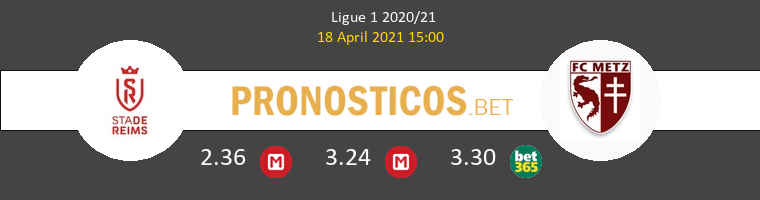 Reims vs Metz Pronostico (18 Abr 2021) 1