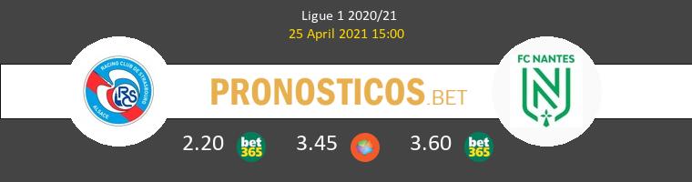Estrasburgo vs Nantes Pronostico (25 Abr 2021) 1