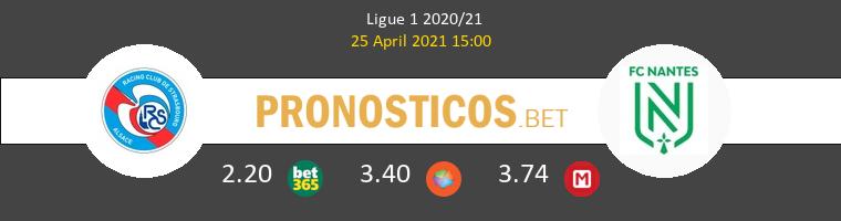 Strasbourg vs Nantes Pronostico (25 Abr 2021) 1