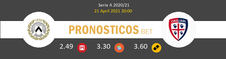 Udinese vs Cagliari Pronostico (21 Abr 2021) 1
