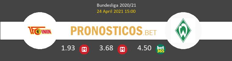 Union Berlin vs Werder Bremen Pronostico (24 Abr 2021) 1