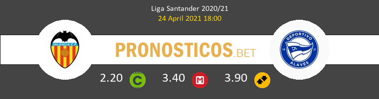 Valencia vs Alavés Pronostico (24 Abr 2021) 1