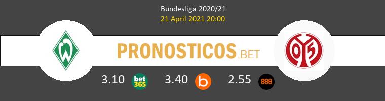 Werder Bremen vs Mainz 05 Pronostico (21 Abr 2021) 1