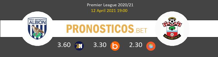 West Bromwich Albion vs Southampton Pronostico (12 Abr 2021) 1