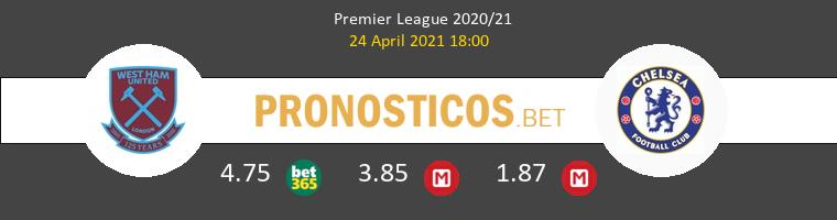 West Ham vs Chelsea Pronostico (24 Abr 2021) 1