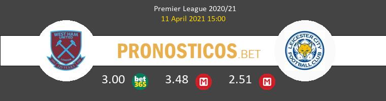 West Ham vs Leicester Pronostico (11 Abr 2021) 1