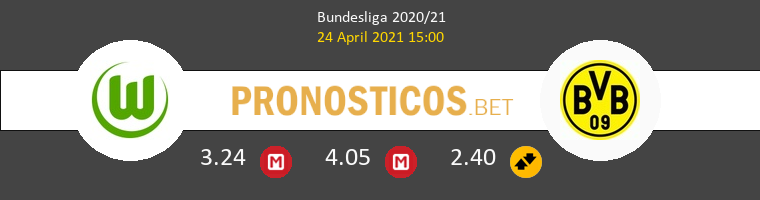 Wolfsburg vs Borussia Dortmund Pronostico (24 Abr 2021) 1