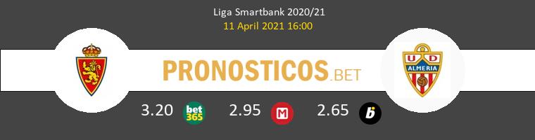 Zaragoza vs Almería Pronostico (11 Abr 2021) 1