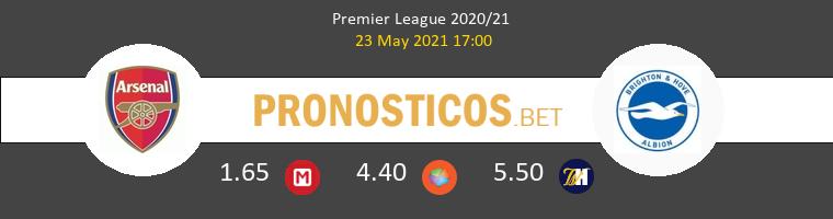Arsenal vs Brighton & Hove Albion Pronostico (23 May 2021) 1