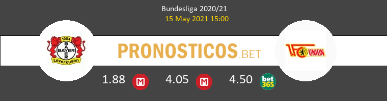 Bayer Leverkusen vs Union Berlin Pronostico (15 May 2021) 1