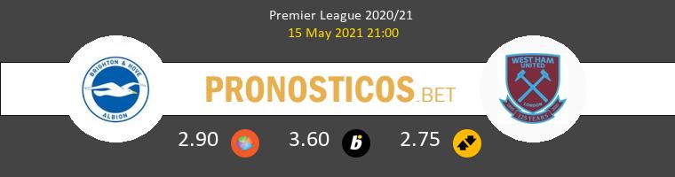 Brighton Hove Albion vs West Ham Pronostico (15 May 2021) 1