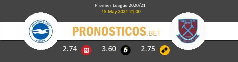 Brighton & Hove Albion vs West Ham Pronostico (15 May 2021) 1