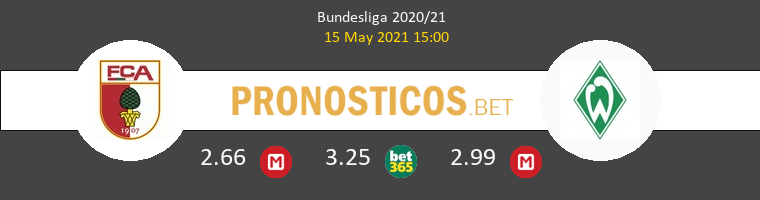 FC Augsburgo vs Werder Bremen Pronostico (15 May 2021) 1